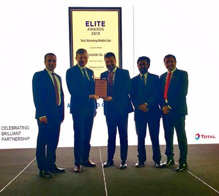 Al Masaood Oil & Gas awarded by Total Marketing Middle East
